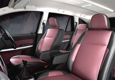 Front seats of Tata Aria.