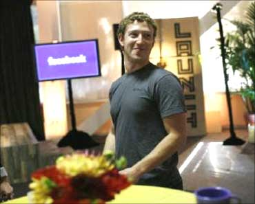 Facebook founder Mark Zuckerberg.