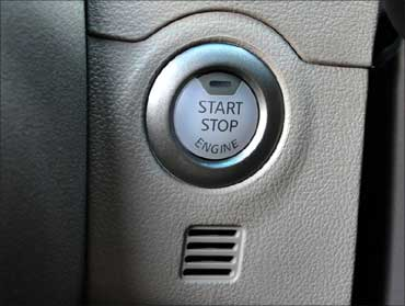 The intelligent key and push engine starter.