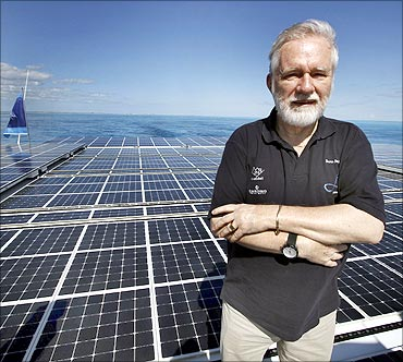 The world's largest solar boat