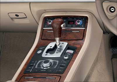 Audi A7 gear shifter.