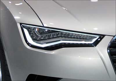 Audi A7 headlight.