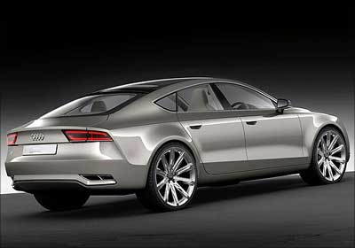 Audi A7 cross side view.