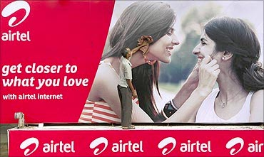 Bharti Airtel's new advertisement.