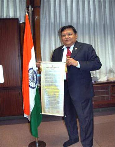 Larsen and Toubro chief A M Naik.