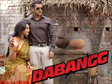 A poster of 'Dabangg'.