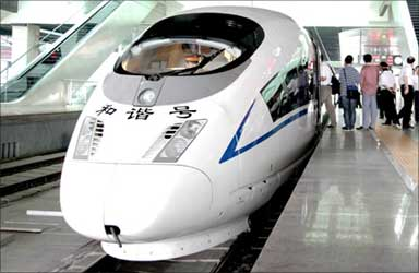 Seperfast train of China.