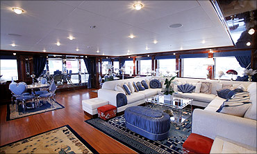 The interior of a CRN 60m Blue Eyes yacht. Ferretti Group is looking for partnerships in India.