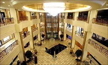 A general view inside the Emporio mall in New Delhi.
