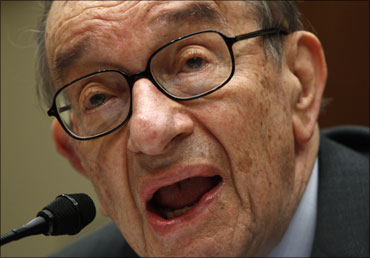 Former chairman of the Federal Reserve of the United States Alan Greenspan.