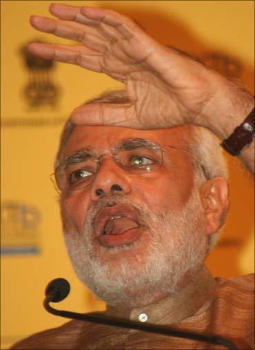 Gujarat Chief Minister Narendra Modi.