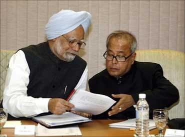 Prime Minister Manmohan Singh and Finance Minister Pranab Mukherjee.