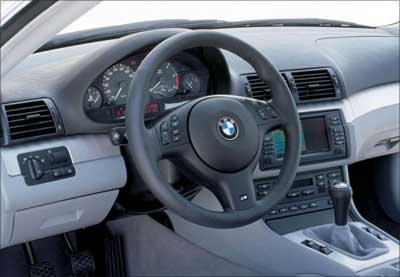 Interior view of BMW 3-series coupe.