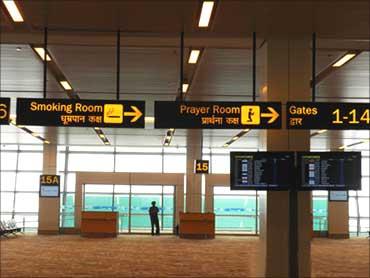 Boarding gate.
