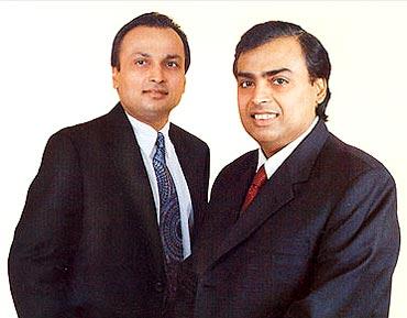 Anil and Mukesh Ambani.