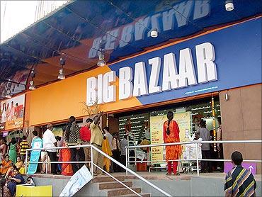 Future group's Big Bazaar outlet.