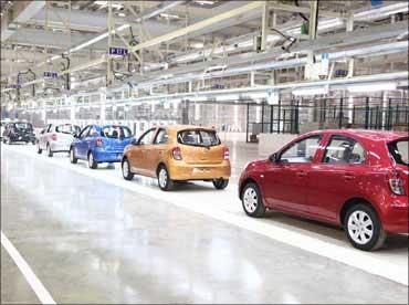 Nissan's Chennai plant.