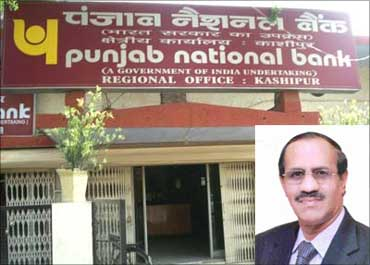 Inset: K R Kamath, CMD, Punjab National Bank.