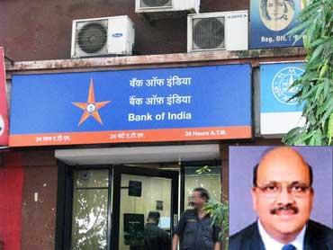 Inset: Alok Kumar Misra, CMD, Bank of India.