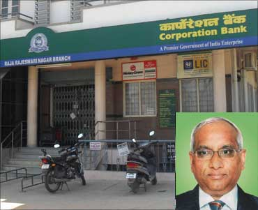 Inset: Ramnath Pradeep, CMD, CorpBank.