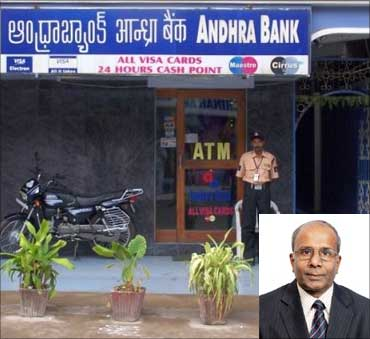 Inset: R Ramachandran, CMD, Andhra Bank.