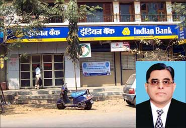 Inset: T M Bhasin, CMD, Indian Bank.