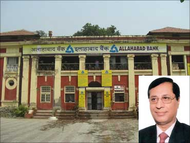 Inset: J P Dua, CMD, Allahabad Bank.