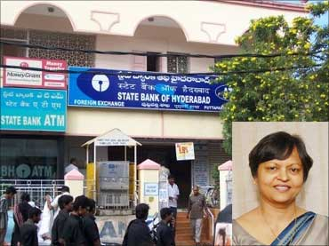 Inset: Renu Challu, MD, bank of Hyderabad.