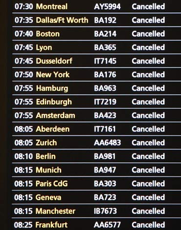 Thousands stranded, but flights to Heathrow resume