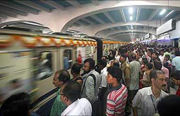 The Metro Rail of Kolkata.