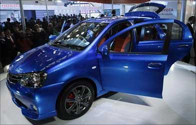 Side view of Toyota Etios.