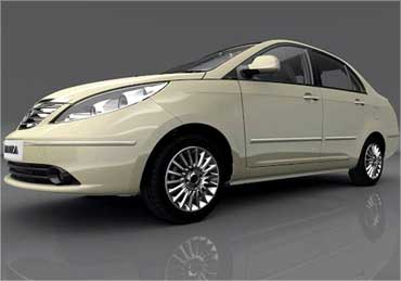 Side view of Tata Manza.