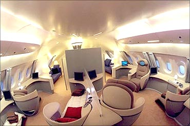Interiors of A380.