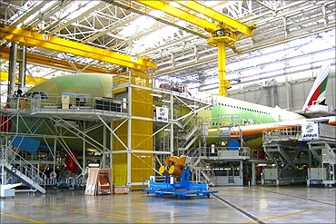 Airbus manufacturing unit.