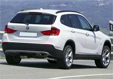 Rear view of BMW X1.