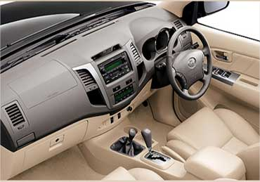 The dashboard of Toyota Fortuner.