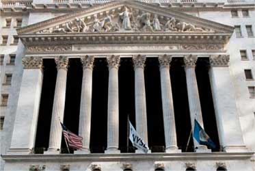 New York Stock Exchange building.
