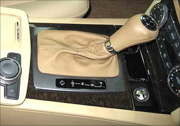 Mercedes-Benz new C-Class gear shifter.