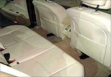 Mercedes-Benz new C-Class rear seats.