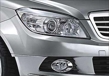 Mercedes-Benz new C-Class headlight.