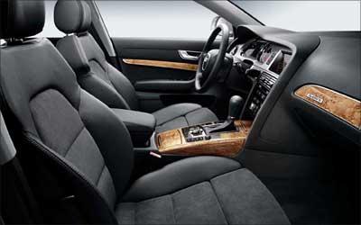 Interior of Audi A 6.