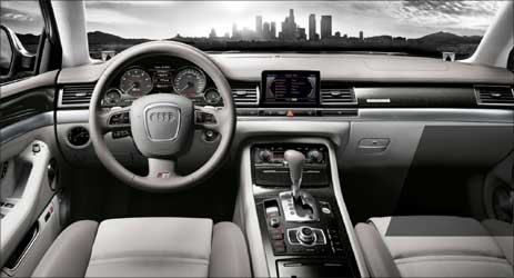 Interior of Audi A 8.