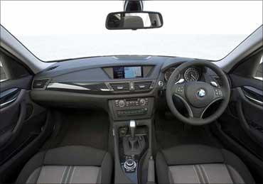 BMW X1 interior.