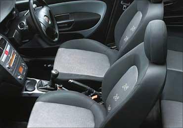 Interior of Fiat Punto.