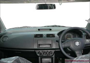 Interior of Maruti Swift.