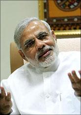 Image: Gujarat Chief Minister Narendra Modi. Photograph: Rajesh Karkera