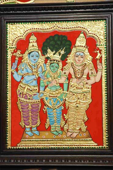 Another Thanjavur painting by Srividya.