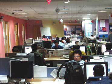 A BPO unit in Bengaluru.