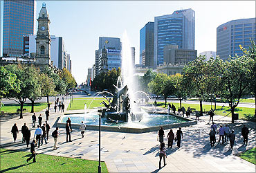 The city of Adelaide.