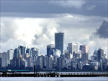 The downtown skyline of Vancouver.